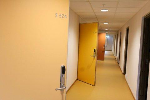 Nytt studentbygg: Studentboligene i Haspa sto klare til studiestart i fjor. Fortsatt er det mange studenter i Kongsberg som ikke får studentboliger.
