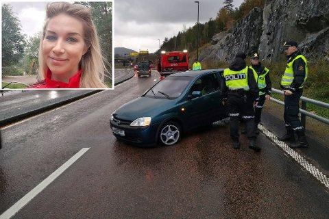 Bekymret: Anne Elisabeth Simensen kjører E 134 Gomsrudveien daglig. Torsdag havnet en bil i motgående kjørefelt, på samme sted som dødsulykken for en måned siden. Simensen etterlyser tiltak.