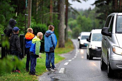 DOBBEL SÅ MANGE BILER: Etter at nye E134 åpnet har trafikken på Gamleveien blitt mye større, viser trafikktellingen som Viken fylkeskommune har gjennomført.