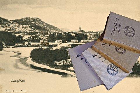 KONGSBERGBOKA: I løpet av april 1945 ble de siste eksemplarene av Kongsberg-bøkene, som kom ut i 1924, solgt. Ved henvendelse til rådmannens kontor fikk ikke Lp klarhet i hvor mange bøker det kunne dreie seg om, men «opplaget til jubileumsåret var jo ikke så ganske lite», var svaret.