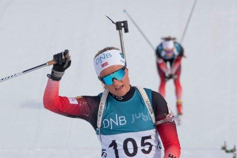 FØRSTEPLASS: Svenejenta Mari Wetterhus vant kvinnenes sprintkonkurranse i norgescuprennet i Lygna lørdag. Bildet er tatt en tidligere anledning.