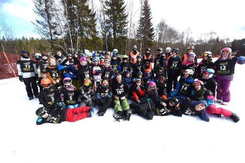 AVLYST: Snøbrettcrossarrangementne til KIF er veldig populære.. Lørdag skulle 61 unge utøvere vært i aktitivitet i FUnkelia.