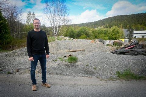 LA INN BUD: Mikkel Myrvold i Kongsberg Tomteselskap sier at de ønsket å sikre seg en eiendom for å gjøre boligprosjektet mer komplett.