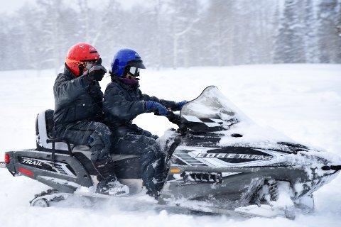 LØYPE: Et selskap i Øvre Numedal vil bygge en sammenhengende snøscooterløype fra Veggli til langt opp i Nore og Uvdal. (illustrasjonsfoto)