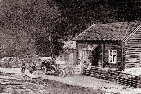 BILRUTE: I 1909 ble det kjørt en testtur før bilruta mellom Kongsberg og Tinnoset ble satt i drift. Redaktør Wadd i Lp var med på denne spennede turen.