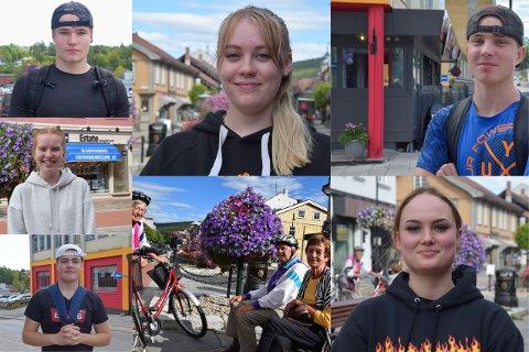 PÅ GATA: Vi spurte folk på gata om hva de tenker om smittesituasjonen i Kongsberg om dagen.