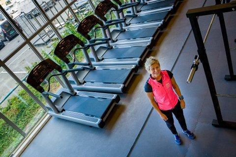 Senterleder Karin Sønsteby kunne stolt vise fram Liers nye treningssenter på Liertoppen kjøpesenter torsdag ettermiddag.