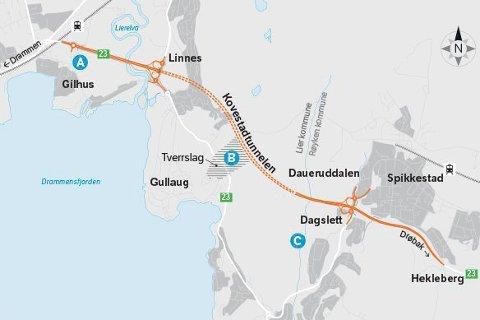 """RUMLEFELT: Statens vegvesen har etablert såkalte """"rumlefelt"""" med forhøyede striper i veien, for å tvinge bilistene til å senke farten forbi anleggsområdet på Gullaug."""