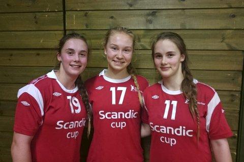Reistad-jenter: Fra venstre, Thale Rushfeldt deila, Marte Siren Figenschau og Live Rushfeldt Deila.FOTO: PRIVAT