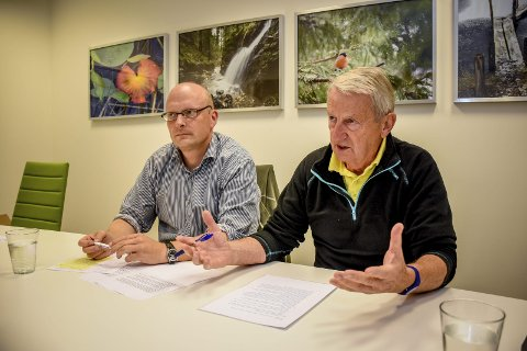 Ønsker intet asylmottak: Lars Haugen og Per Vemork, Lier Frp. arkivfoto: simen næss hagen