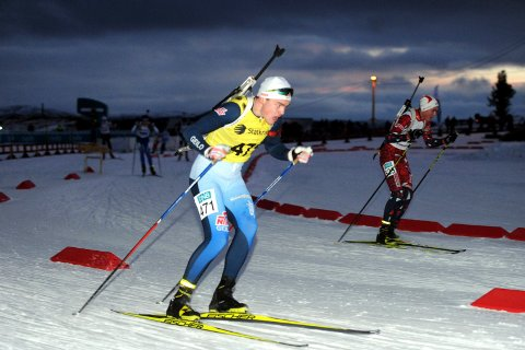 SMÅ MARGINER: Mats Øverby (16) var tre fattige sekunder fra pallplass på 10-kilometeren under juniorenes norgescup på Nes.