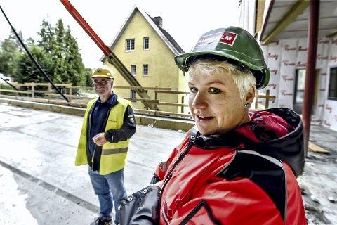 BLE OVERRASKET: Daglig leder for Legevakten i Drammen, Liv Heidi Remo. Her avbildet i forbindelse med byggingen av Fosshagen sykehjem.