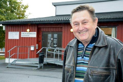 GLEDER SEG: Svein Daae Norman fra Tranby gleder seg til at trimrommet i Lierhallen blir åpnet igjen, trolig i midten av oktober.