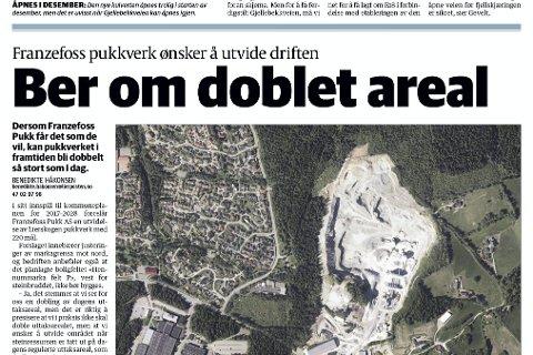 Faksimile fra Lierposten 5. oktober 2017