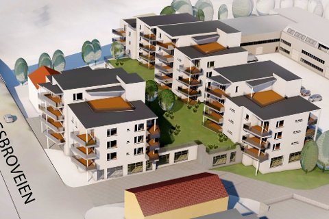 Storprosjekt: Utbyggingen av Elvebredden Park er det største utbyggingsprosjektet sentral i Lierbyen på mange år. Et sted mellom 50 og 55 leiligheter skal bygges, og utbygger håper på byggestart høsten 2018.