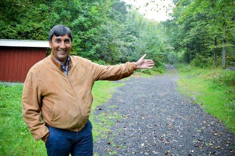 FIKK NEI: Ravi Sunder frontet det omtalte prosjektet i Tomineborgdalen, men møtte motbør i det politiske flertallet i Lier.