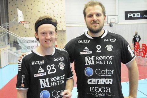 Viktig og sterk hjemmeseier: Jarle Mørk Pettersen og Lars Henrik Eriksen spilte en god kamp for St. Hallvard og bidro til en viktig seier mot Viking TIF som lå likt på tabellen med Lier-laget.