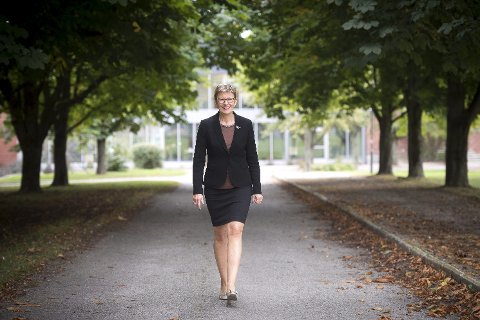 Stolt rektor: Anne Johanne Guldvik, rektor ved Lier videregående skole, er både stolt og glad over entreprenørprisen. arkivfoto