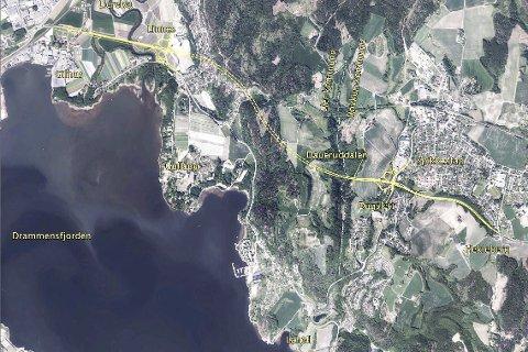 NYTT PROSJEKT: Statens vegvesen har stanset arbeidet med strekningen Dagslett–Linnes på riksvei 23. Nå skal prosjektet helt fram til E18 ses i sammenheng med viderføring av riksvei 23 og ikke isolert som før.