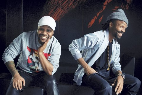 Madcon: Yosef Woldemariam (t.v.) og Tshawe Baqwa er klare for ungdomskonserten på Lierdagene.Pressefoto: Olav Stubberud