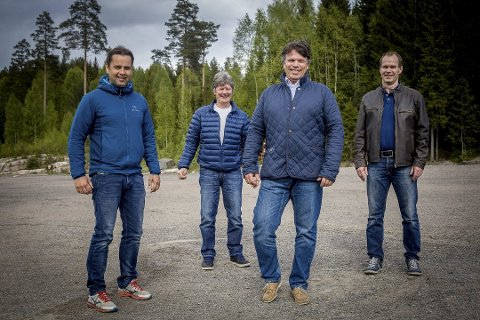 INITIATIVTAKERNE: F.v. Bjørn Ole Bekkevold, Jan Hennum, Pål Thomassen og Arne Koppergård har jobbet med Leirdalen-prosjektet siden 2012.