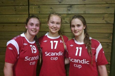 På landslaget: Fra venstre: Thale Rushfeldt Deila, Marte Siren Figenschau og Live Rushfeldt Deila.