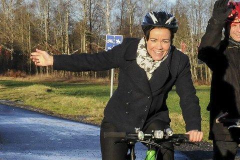 Nettmøte om sykkel: Gunn Cecilie Ringdal inviterer.