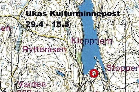 HELT PÅ GRENSA: Ukas kulturminnepost ligger ved grensa mellom Lier og Drammen - ved idylliske Klopptjern.