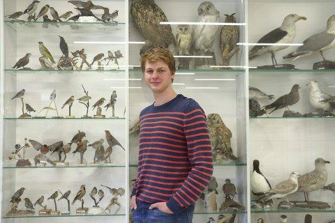 KLAR FOR FINALE: Marius Dobbe Klemetsen (18) fra Tranby er blant Norges flinkeste biologielever.