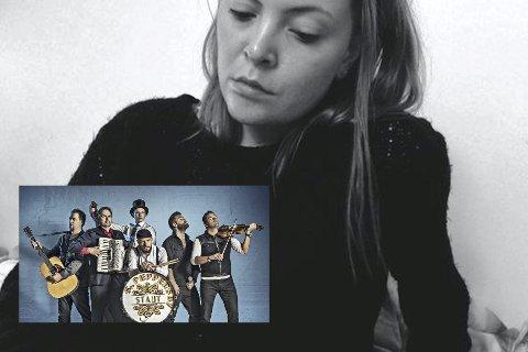 Blit duettpartnere: Ida F. Kampenhaug ble valgt ut av Staut (innfelt) til å synge duett med bandet på konserten som holdes på Svensefjøset fredag.