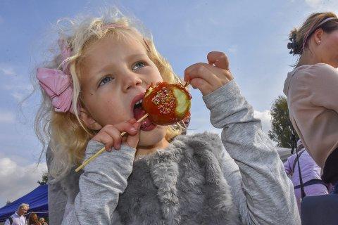 Med eplet i fokus: Det meste drier seg om epler på Eplefestivalen - i alle størrelser, former, smaker og bruksområder. Men det er også en flott dag for hele familien. Arkivfoto