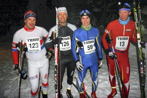 Sterk kvartett. Rolv Eriksrud, Sjåstad-Vestre Lier, Lars Petter Stormo, Vegard Myklemyr, IBK (løpets vinner) og Ståle Kihle, Konnerud IL, hadde de beste tidene på årets Natthauern.