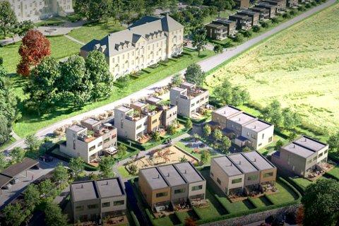 Klart for salg: De første boligene i Lier Hageby legges nå ut for salg.