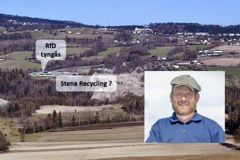 Bekymret: Harald O. Buttedahl (innfelt) er bekymret for hva en mulig etablering av et nytt avfallsanlegg på Lyngås kan medføre, og sier det er gledelig med det store engasjementet til liungene i denne saken.