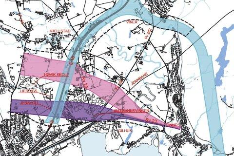 Utredet: De tre korridorene Jensvoll, Vitbank og Viker er mer eller mindre ferdig utredet. Beslutning om trasé kan bli tatt om et halvt år.
