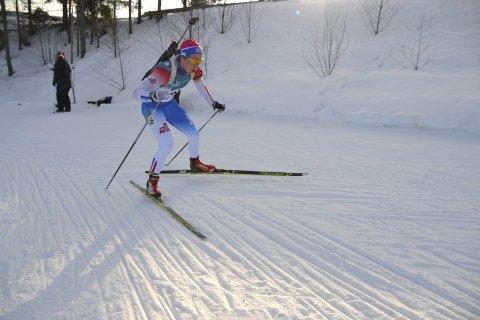 Full klaff: Kristoffer Sørnes kunne for første gang klatre til toppen av pallen i et norgescuprenn søndag.