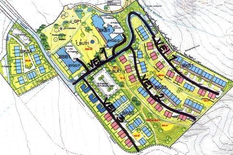 Tre nye veier: Tegningene for Lier Hageby viser at det skal opparbeides tre nye veier på området.