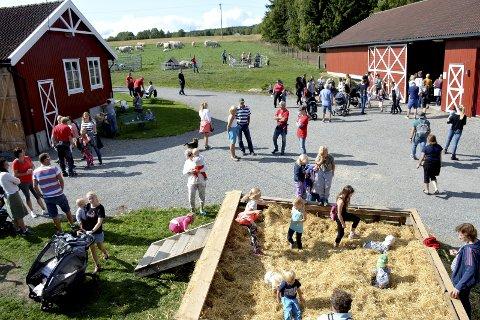 FOLKSOMT: Lier Bondelag inviterte søndag til Åpen gård for 30. gang, og Haugerud var vertsgård. Rundt 800 besøkende tok turen innom.