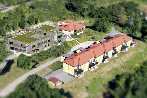 KLAR FORBYGGING: Slik ser Lier kommune for seg den nye Glitre bofellesskap på Gifstad. Prosjektet ble vedtatt, tross skepsis til at det bryter med stedlig arkitektur.