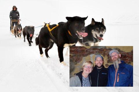 HUNDEKJØRING: Finnemarka trekkhundklubb (innfeldt) jobber for å få til en lang rundløype for hundekjøring vinterstid.