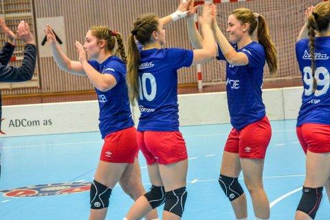 Solid avslutning: Reistad-jentene i 2. divisjon avsluttet høstsesongen med seier 45-31 hjemme mot Østfold-laget Tveter. Laget topper nå tabellen i sin debutsesong i 2. divisjon.