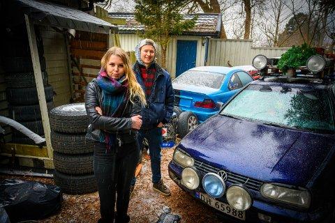 Sonja Brandtzæg (24) og Kasper Hoen Markegård (20) mener at det er dumt at enkelte i bilmiljøet ødelegger for alle.