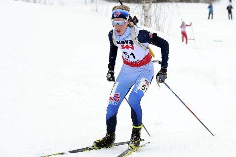 Karrierebeste: Vetle Rype Paulsen gikk inn til en sjetteplass på fredagens sprint under junior-VM i skiskyting i Osrblie, Slovakia. Det var Lier IL-løperens beste sprint-løp noensinne.