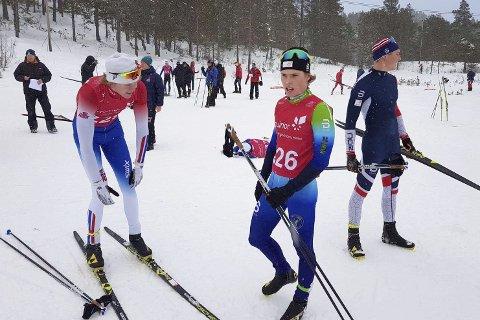 Karrierebeste: Albert Sunde Øhlschlägel (i midten) slo til med karrierebeste i helgens norgescup for juniorer.