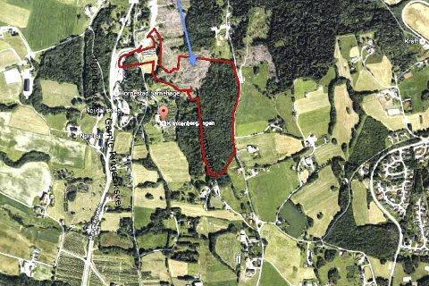 HER ER DET: Dette er kanskje den beste skissen som viser hvor Klilnkenberghagan ligger mellom Ringeriksveien i vest og Hennumtorget/Hennumveien i øst. Den omtalte eiendommen ligger også i nærheten av Nordal skole, og skal bidra til å sikre elevgrunnlaget ved Liers minste skole.