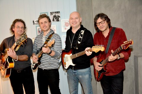 GITARSHOW: Lier Gitarkvartett er «still going strong», og er klar for en nye gitarseanse på Lier kulturscene torsdag. arkivfoto