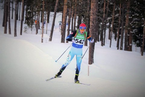 Bykset oppover listene med sterk skyting: Mathias Sørnes hadde en 19. plass som beste plassering i et norgescupløp denne sesongen, før lørdagens sprint. Der gikk 16-åringen helt til topps, etter å ha funnet tilbake til formen på standplass. Foto: Privat