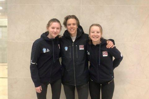OL-klare studenter: Synne Strand, Torstein Wiiger Opsahl og Tilla Farnes Hennum er på plass i Sibir for å konkurrere i Universiaden sammen med 3000 utøvere i 11 ulike vinteridrettsgrener.