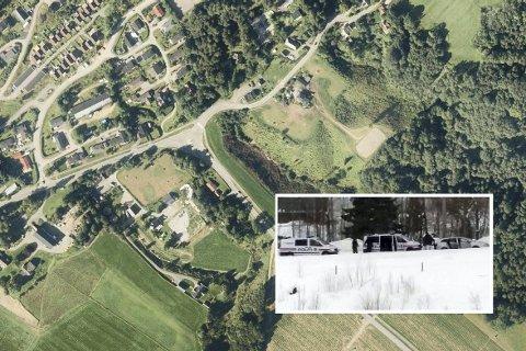 Fagerliåsen: Det er øverst i Sylling naboer har observert stort politioppbud torsdag formiddag. Foto: Skjermdump 1881/leserbilde