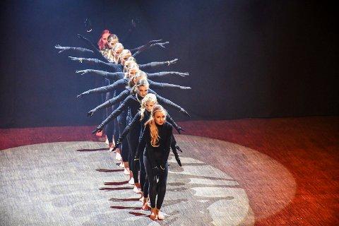 ELEGANT: Amaze Dansegruppe gjennomførte med stil og energi for to fulle hus på Lier kulturscene søndag.